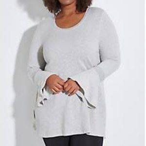 LB LIVI Active Bell-Sleeve Tunic Sweatshirt